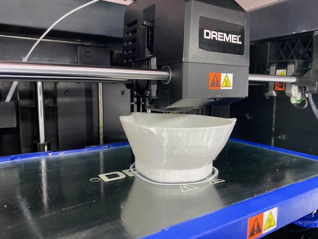 3D printer produces mask