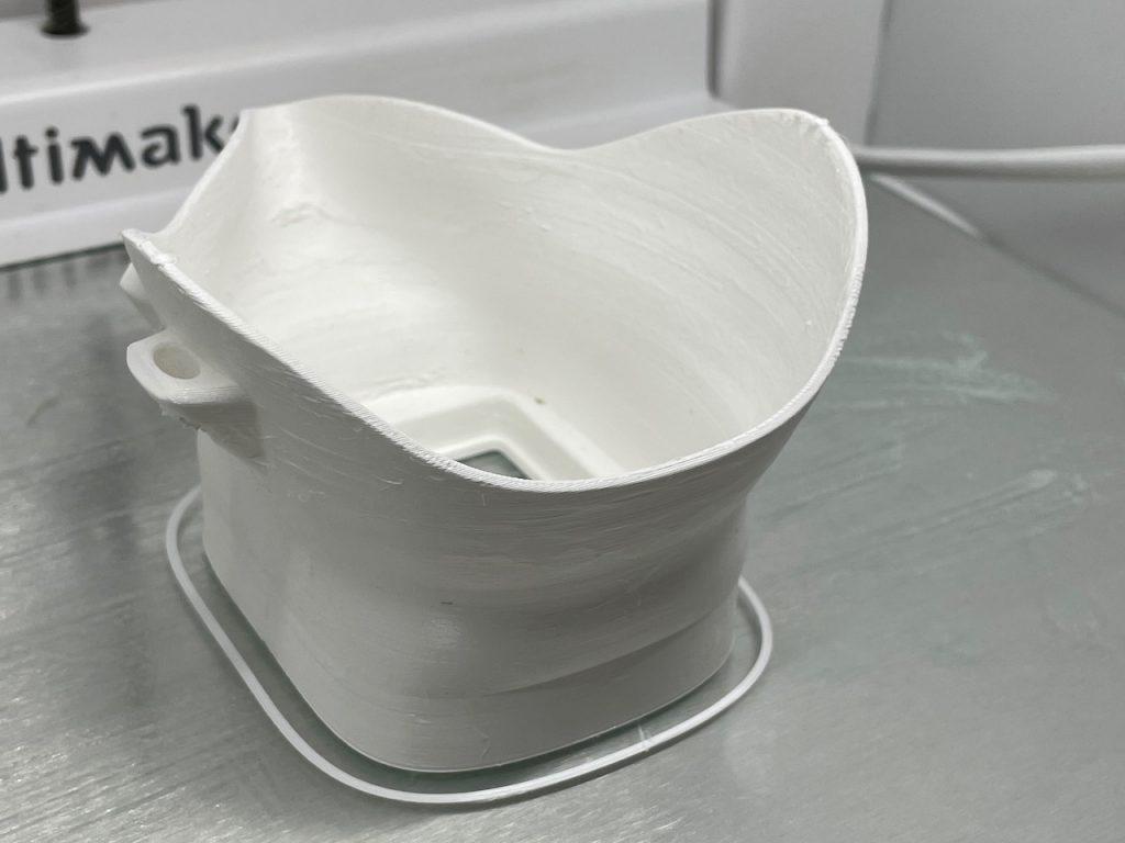 White 3D printed mask body