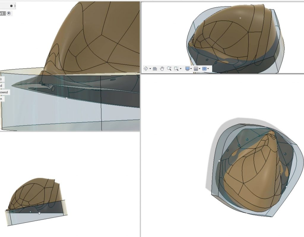 3D design of mask from several angles