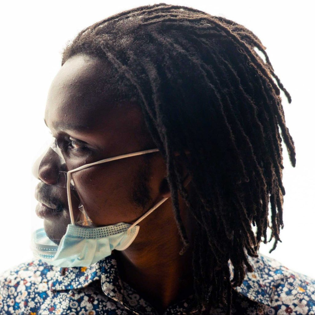 The upcycled BEcycle mask system is a lightweight reusable clear mask adapter combined with a certified face mask.  The BEcycle mask is a work in progress.