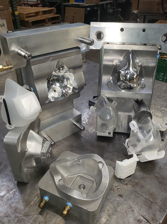 Injection molding equipment with examples of the Harbec mask